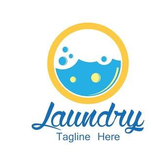 Logo de blanchisserie avec espace texte pour votre slogan