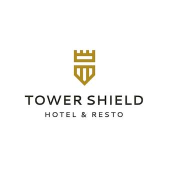 Logo de la tour et du bouclier