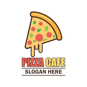 Logo de pizza avec espace texte pour votre slogan