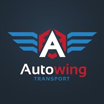 Logo de voiture et automobile avec logo de symbole d'aigle et d'aile.