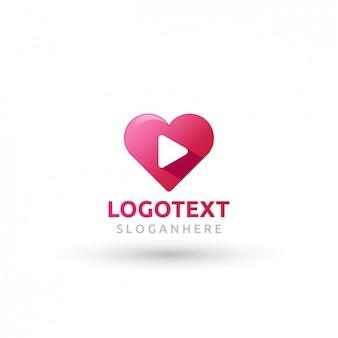 Logo rose en forme de coeur