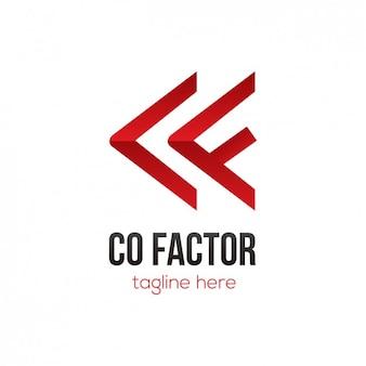Logo rouge abstrait formes fléchées