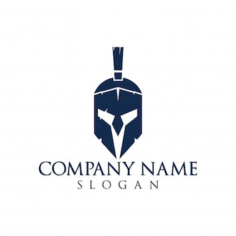 Logo Spartan. Old Vintage Antiques Spartan warrior vector design