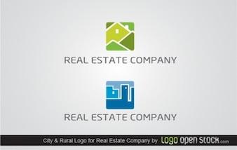 L 39 architecture des b timents logo de dessin vectoriel t l charger des vecteurs gratuitement - Vert et bleu immobilier ...