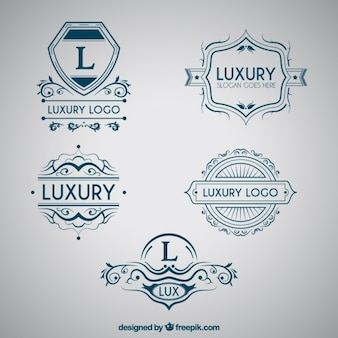 Logos de lettre majuscule Bleu