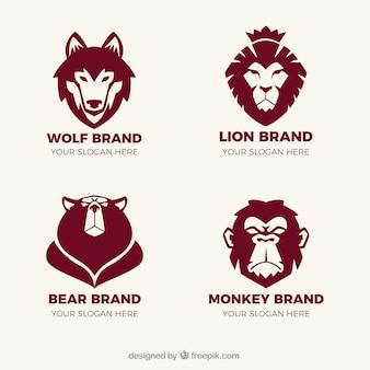 Logos fantastiques avec animaux
