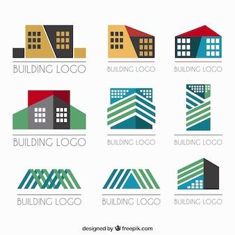 logos immobilier géométriques