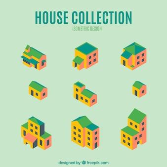 Lot de fantastiques maisons isométriques