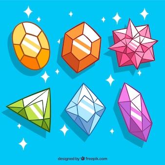 Lot de pierres précieuses de couleur