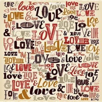 Love background Vintage