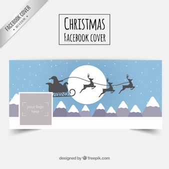 Luge la couverture facebook du Père Noël