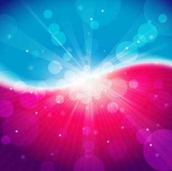 Lumière abstraite bokeh coloré