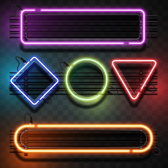 Lumières avec collection de formes géométriques