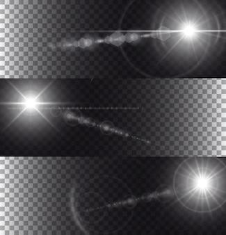 Lumières évasées isolées sur fond transparent