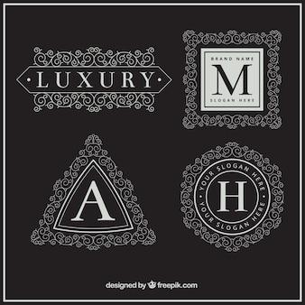 Luxe lettre majuscule collection logo