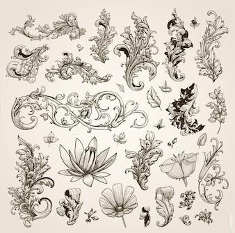 Mariage nature fleurir motif décoratif