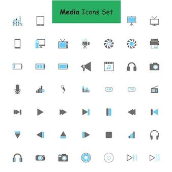 Médias icon set