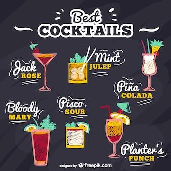 Meilleur cocktails vecteur