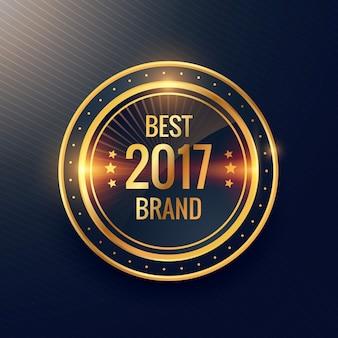 Meilleures années de conception de vecteur étiquette de la marque d'or badge étiquette