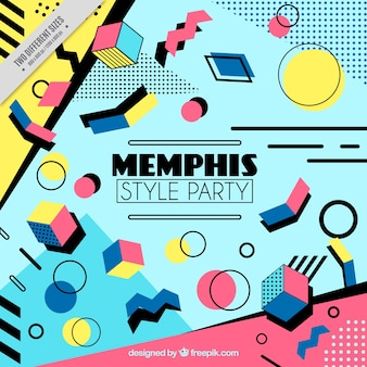 Memphis party background