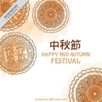 Mid festival d'automne, fond