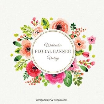Mignon cadre de fleurs dans le style vintage