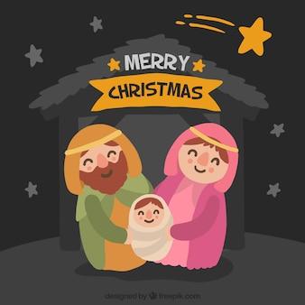 Mignon Noël scène de la nativité