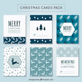 Mignon pack de carte de Noël