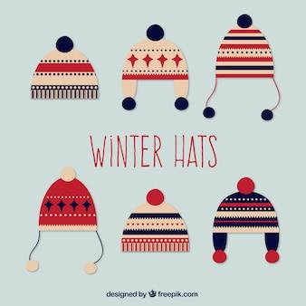 Mignon pack de laine chapeaux