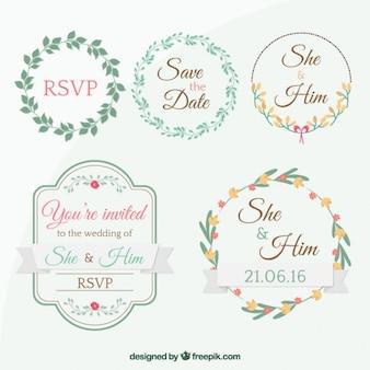 Mignon tags pour invitation de mariage