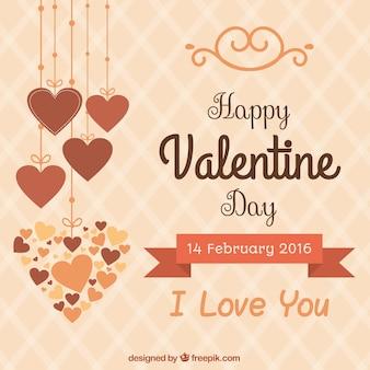 Mignon valentine jour heureux fond