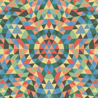 Milieu géométrique de mandala triangulaire géométrique - motif symétrique de motif vectoriel à partir de triangles colorés