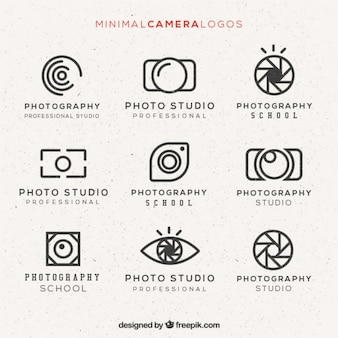 Minimal pack logos de la caméra