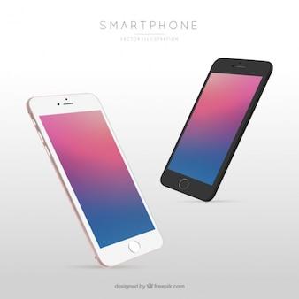 Mobile avec écran abstrait