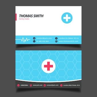 Modèle bleu de carte de visite médicale