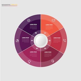 Modèle d'affaires infographique avec des éléments circulaires