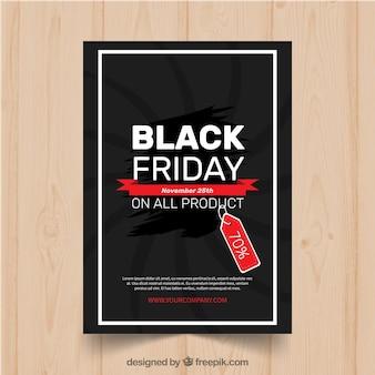 Modèle d'affiche moderne de vendredi noir