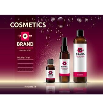 Modèle d'emballage cosmétique