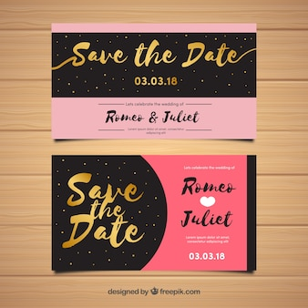 Modèle d'invitation de mariage romantique