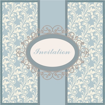 Modèle d'invitation ornementale
