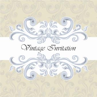 Modèle d'invitation vintage
