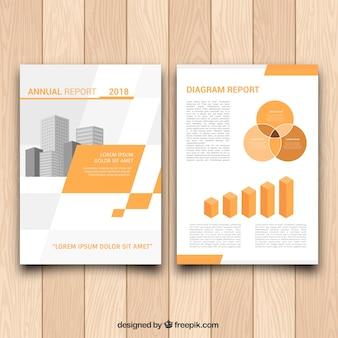 Modèle de brochure avec des graphiques
