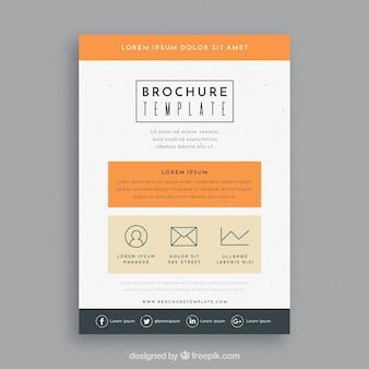 Modèle de brochure avec style classique