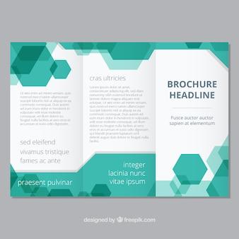 Modèle de brochure avec style géométrique