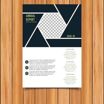 Modèle de brochure commerciale géométrique