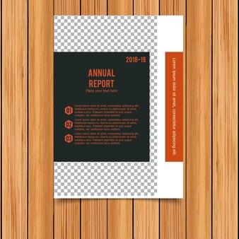 Modèle de brochure commerciale noir et orange