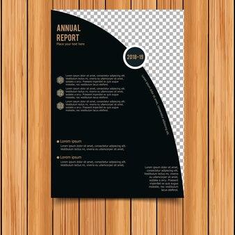 Modèle de brochure commerciale noire
