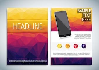 Modèle de brochure pour téléphone portable