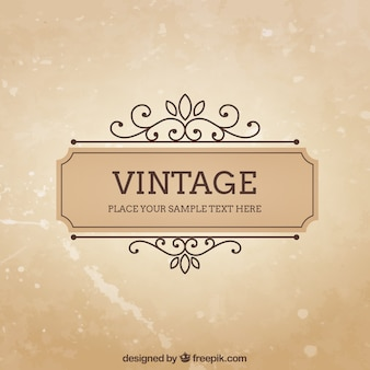 Modèle de cadre Vintage