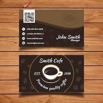 Modèle de carte de visite du café